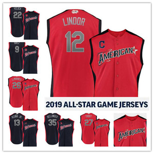 Wholesale 2019 All Star Cody Bellinger Luis Severino Gleyber Torres Christian Yelich Game stitched Jerseys Custom Mens Youth Women