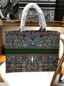 Wholesale 2018 brand fashion luxury women s handbags printed embroidery canvas shopping bag French famous designer tote bag