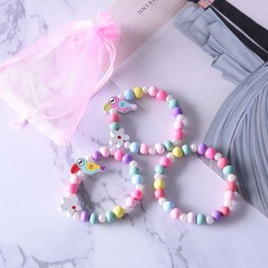 Wholesale 3pcs Cute Animal Flower Cartoon Flower Children s sweater bracelet for children gift cp2650