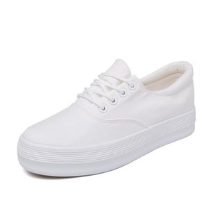 Wholesale White Casual Flat Sneakers Shoes Women Spring Womens Leather Canvas Female Flats Ladies Sneakers Tenis F F