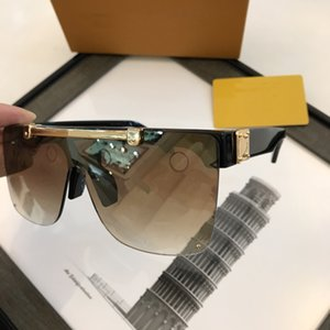 Wholesale one piece frame resale online - Sexy Square Sunglasses Ladies Pilot Sunglasses Metal Women Men Goggle Gradient Sun Glasses One Piece Female Mirror Shades UV400