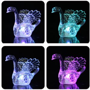 Wholesale swan light decorations for sale - Group buy 10 LED Swan Animal Night Lights Colorful flashing blinking Table Desk Lamps Battery Holiday Party wedding decoration Kids Toys