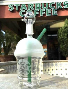 Wholesale sandblasted starbucks cup bong for sale - Group buy Cheap starbuck bongs mini Starbucks Cup glass bongs sandblasted glass pipes for smoking oil rigs glass water bongs and nail hookah