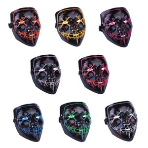 2018 New Year Cosplay LED Light Mask Up Funny Mask from The Purge Election Year Great for Festival Cosplay Halloween Costume