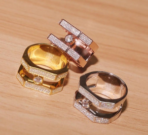 Wholesale 2019 Latest model Men and women s ring fashion charming Elegant beautiful Double row