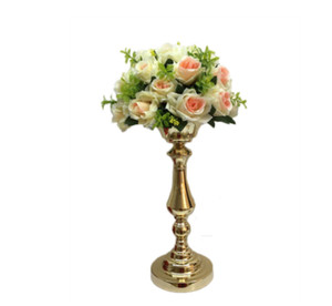 Wholesale vases for flower centerpieces resale online - New style Flower Vases Pillar Pot Wedding Table Centerpieces Event Road Lead Party Flowers Stands Rack For Floor event Decoration senyu0358