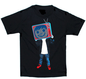 LED Sound Activated EL T Shirt Light up Shirt with Mixes a Silk Screen - 088 Design T Shirts Casual Cool