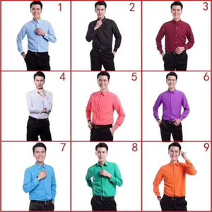Brand New Cotton Long Sleeve Groom Shirt Men Small pointed collar fold Formal Occasions Dress Shirts NO:06