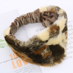 Wholesale New Women Winter Warm Imitation Fur Headband Fashion Girl Elastic Hairbands Retro Turban Headwraps Gifts Hair Accessories