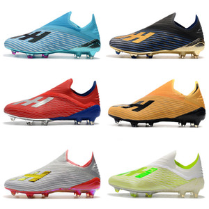 cheap 2020 mens soccer cleats X 19.1 FG Predator soccer shoes football boots outdoor Tacos de futbol high quality blackout on Sale