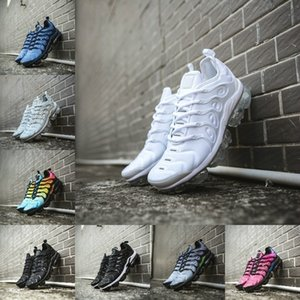 Wholesale High Quality 2020 New Tn Plus Shoes White Blue Men Women Running Fashion Casual Shoes Triple Black Trainer Requin Air Tn Cushion Sneakers