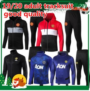 Wholesale Top quality FC United adult tracksuit soccer jacket UTD POGBA RASHFORD ALEXIS Hoodie football jacket training suit