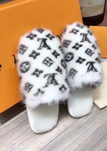 high12 women Mink slippers causal slippers Wool Household slippers tian blooms start print slide sandals unisex indoor beach flip flops