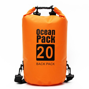 Wholesale 20L L Outdoor PVC Waterproof Dry Bag Ocean Pack Backpack For Swimming Swim Water Proof Impermeable River Trekking Bag