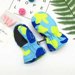 Wholesale 1Pair Cute Kids Winter Waterproof Warm Mittens Boy Girl Kids Children Outdoor Child Gloves Years