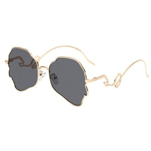 New brand designer men and women couple polarized sunglasses new personality polarized sunglasses unisex couple models gold frame sunglasses