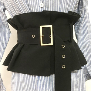 Plus size corset belt black waist belts for women wide cummerbund fashion designer elastic big dress coat ceinture femme