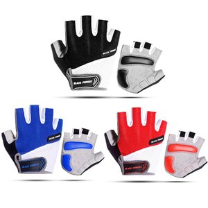 For MTB Bicycle Cycling Glove Half Finger Gel Pad Breathable Sweat Wiper Washable Air Flow Mesh Back Outdoor Sport Bike Gloves