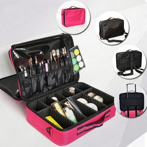 Women Professional Makeup Organizer Bag Travel Luggage Bag Large Make Up Storage Box Suitcases Make Up Bags Cosmetic Case Hot