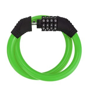 Wholesale security cans resale online - 360 roation Security Steel digit password bike lock Universal Wire Lock can be extended candado bicicleta bicycle accessories
