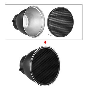 Photography Reflector Diffuser Lamp Shade Dish with 60° Honeycomb Grid for Bowens Mount Studio Strobe Flash Light Speedlite