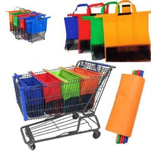 Wholesale pcst set Cart Trolley Supermarket Shopping Bag Grocery Grab Bags Foldable Tote Eco friendly Reusable Storage Bags UPS Free Ship