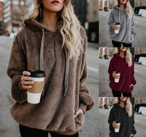 Wholesale Women autumn casual hoodies sweater girls winter velvet coat