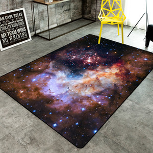 Wholesale universe space carpets Beautiful universe space starry sky cloud silver river night sky crystal velvet floor mat carpet square s dark color