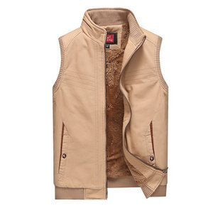 Wholesale CO 2019 cotton vest men leisure add more velvet vest The new collar warm