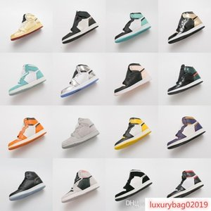 2019 designer shoes Mens women 1 HIGH OG TURBO GREEN GREY CRIMSON IGLOO Crimson Tint YELLOW OCHRE GOLD TOE NIGEL SYLVESTER 1S basketball