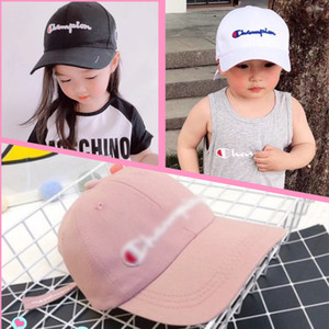 Wholesale INS Kids Champions Snapback Baseball Hat Boys Girls Adjustable Brand Peak Cap Sports Letters Embroidered Beach Travel Golf SPORTS Hats B3142