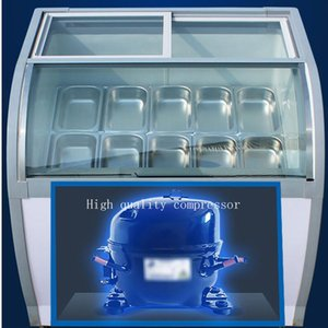 Automatic defogging hard   soft ice cream freezer   popsicle freezer   mini ice cream display freezer LED lights