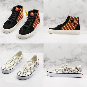 Wholesale Summer Skateboard Harry Potter X Old Skool Skate Shoes High Couple Low Casual Sneakers Slip On Fashion Designer Canvas Shoes Mens Womens