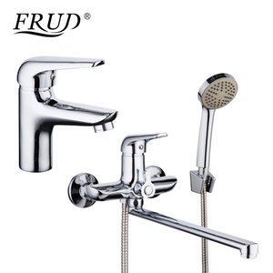 Wholesale Chrome Plating Basin Faucet Bathroom Mixer Zinc Alloy Outlet Pipe Shower Faucet Bathtub Shower Head Cold and Hot Tap Home
