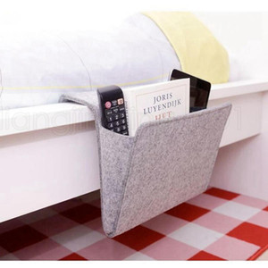 Wholesale magazines holder for sale - Group buy Felt Multifunction Bedside Sofa Hanging Holder Storage Organizer Box Magazine Smart Phone Remote Controll Storage Bag Pockets RRA2790