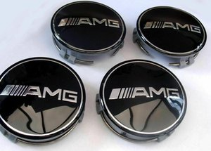 Wholesale 4x Mercedes Benz Alloy Wheel Centre Caps 75mm Badges BLACK AMG Hub Emblem rim caps car styling
