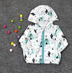 Wholesale Spring and summer new zipper cardigan Thin type of cartoon for children suntan coat boy girl baby fruit series thin type hoodie coat