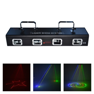 Wholesale AUCD Lens RGBY Red Green Blue Yellow Laser Diode CH DMX Scanner Lights PRO DJ Disco Stage Lighting DJ RGBY