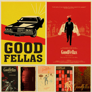 Wholesale Vintage Movie Goodfellas retro posters kraft wall paper High Quality Painting For Home Decor wall stickers