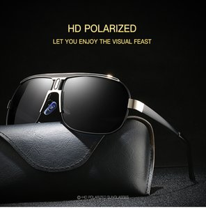 Wholesale Men s Polarized Sunglasses Big Frame Toad Mirror Series Inner Blue Film Men s Classic Driving Mirror