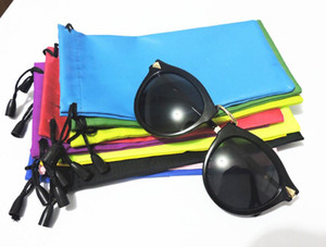 Wholesale 1000pcs High Quality Candy Color Plastic Sunglasses Pouch Soft Eyeglasses Bag Glasses Phone bags Drawstring Sunglasses Cases