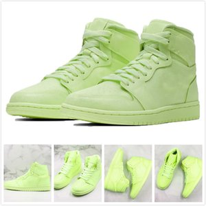 Wholesale New s Basketball Shoes Light Green Reflective Designer Sneakers Men Women Sport Shoes Casual Trainers for Street Wearing