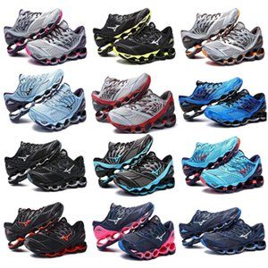 Wholesale Mizuno Wave Prophecy Running Shoe Buffer fashion Men s Women Originals Top Quality Sport Sneakers grayish violet Size