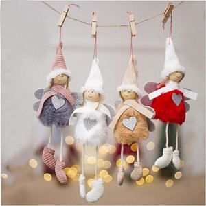 Wholesale Promotion Christma lovely Angel Plush Doll christmas decoration Pendants Tree Window Hanging Ornaments cm Lovely Girls Doll Toys