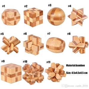IQ Brain Teaser Kong Ming Lock 3D Wooden Interlocking Burr Puzzles Game Toy For Adults Kids