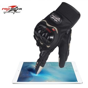 Wholesale Best sale Touch screen Auto Racing Gloves Motorcycle Protect Hands Full Finger Breathe Patchwork Flexible Glove