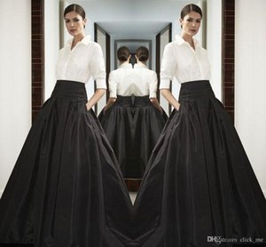 Wholesale High Waist Black Long Satin Skirts Wide Waistband Floor Length Bust Skirts Custom Made High Quality Maxi Skirt Spring Summer Party Dress