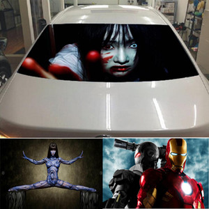 33 Styles 130X70CM Cartoon Mesh 3D Fashion Car Styling Stickers Back Window Decorative Sticker On Car Perspective Stickers Customized QP008