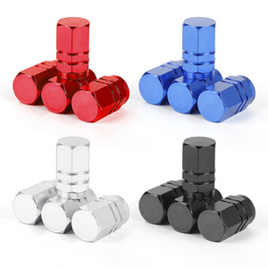 Car Tire Valve Stem caps 4pcs Bolt-in Aluminum Theftproof valve caps Car Wheel Tires Valves Tyre Stem Air Caps