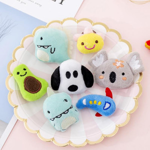 Wholesale Cute Cartoon Multi Style Soft Plush Animal Pins Brooches Pink Pig Crocodile Yellow Duck Badges Lapel Brooches Dress Bag Accessories M83Y
